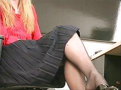 liesas sexy blonde bendradarbio juostelės ir vaidina su dildo įstaigoje